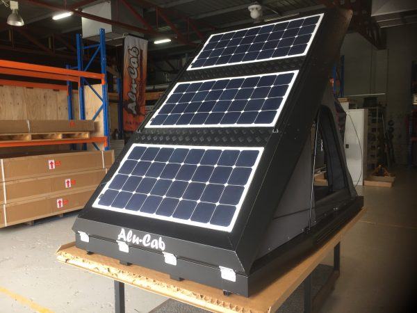 Alu-Cab Roof Top Tent with Solar Panels