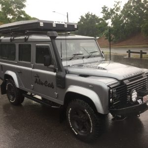 Alu-Cab Roof Top Tent on Landrover Defender