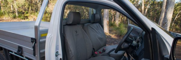 Black Duck Seat Covers on Ute seats