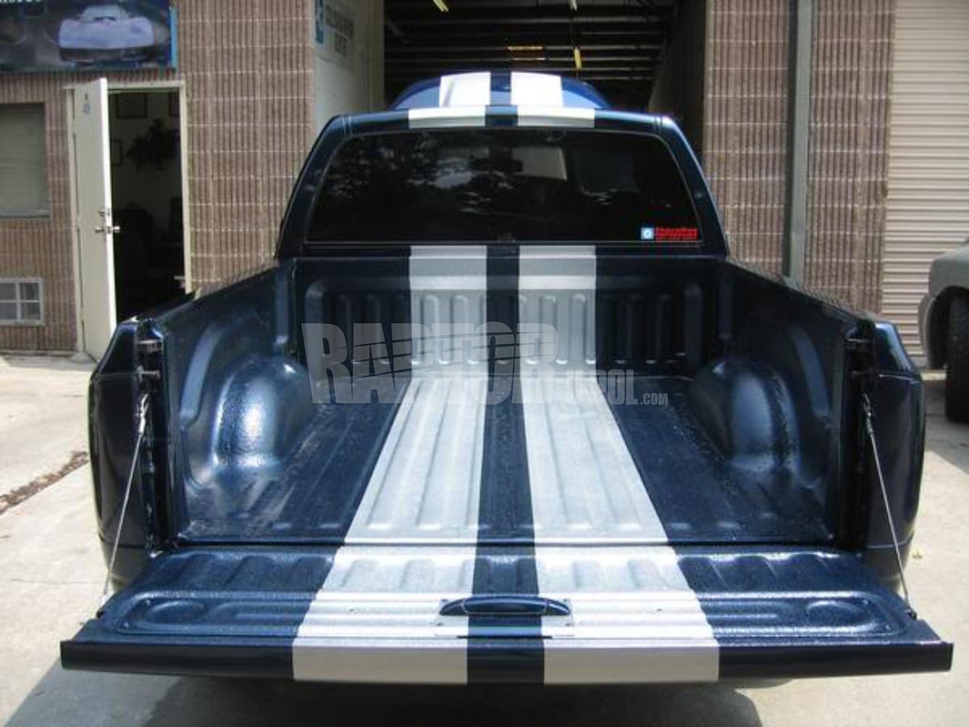 Pickup Bed Stripes done with Raptor