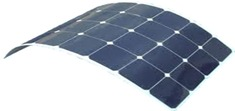Slimline Solar Panel showing flexibility