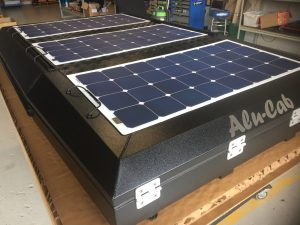 Slimline Solar Panels on Roof Top Tent