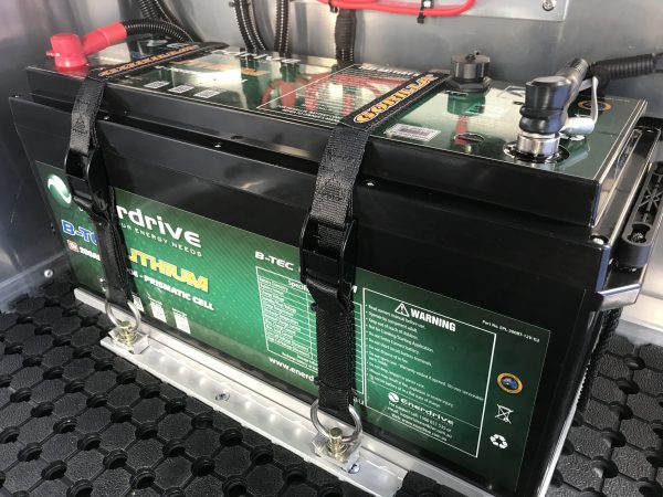 Enerdrive 200Ah B-TEC LiFePO4 Lithium Battery in Norweld Canopy